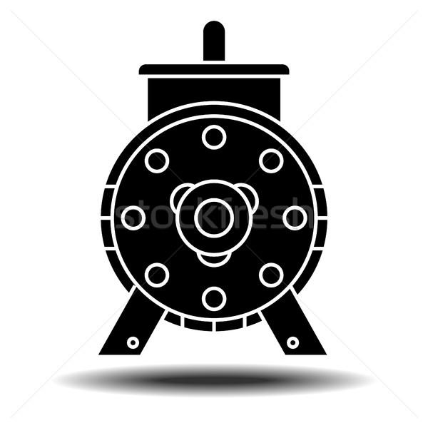 electric motor icon Stock photo © frescomovie