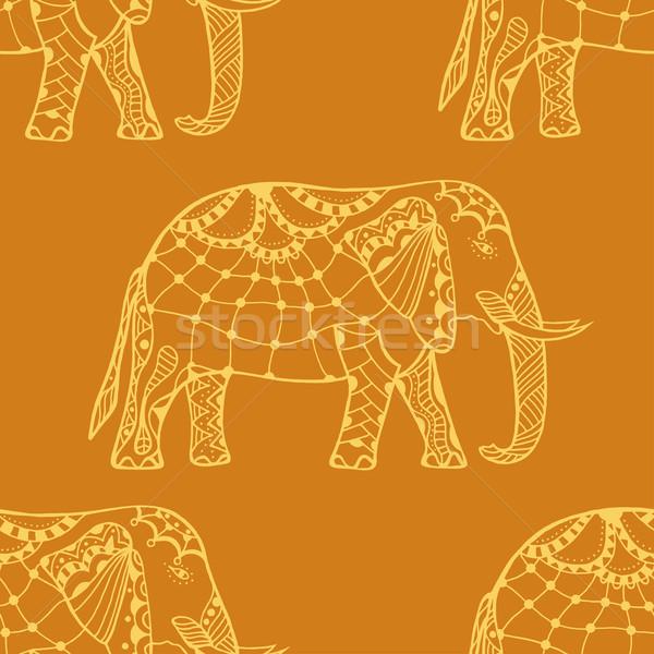 Gestileerde indian olifant geïsoleerd witte Stockfoto © frescomovie