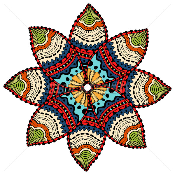Mandala round ornament Stock photo © frescomovie