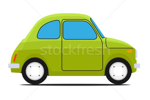 Verde carro carro velho isolado esportes acelerar Foto stock © frescomovie