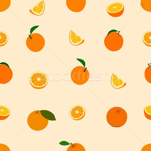 Orange Muster Vektor Tapete Obst Stock foto © frescomovie
