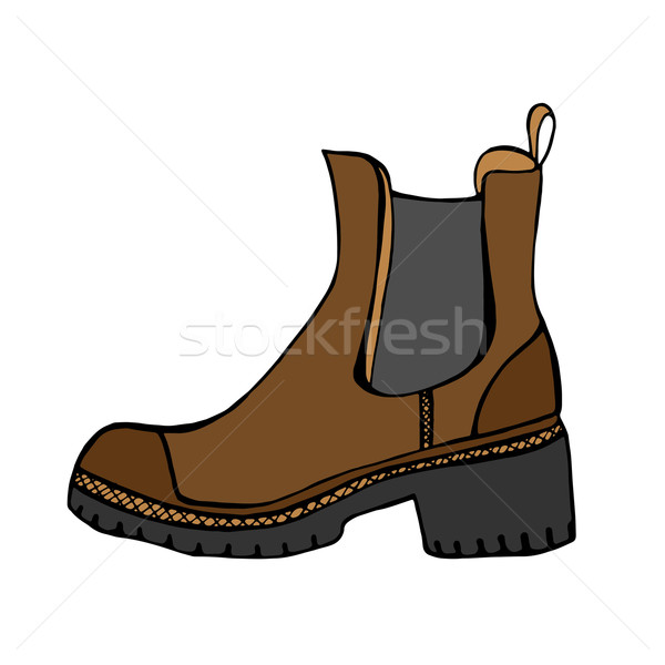Boots vector Stock photo © frescomovie