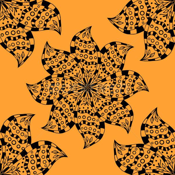 seamless yellow pattern. Stock photo © frescomovie