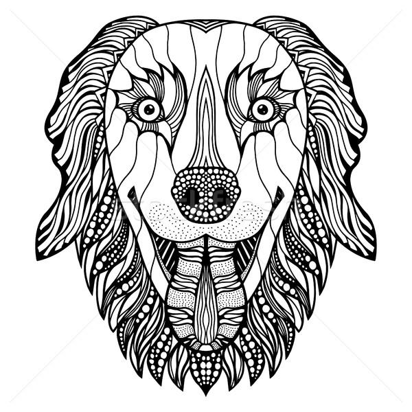 dog head zentangle Stock photo © frescomovie