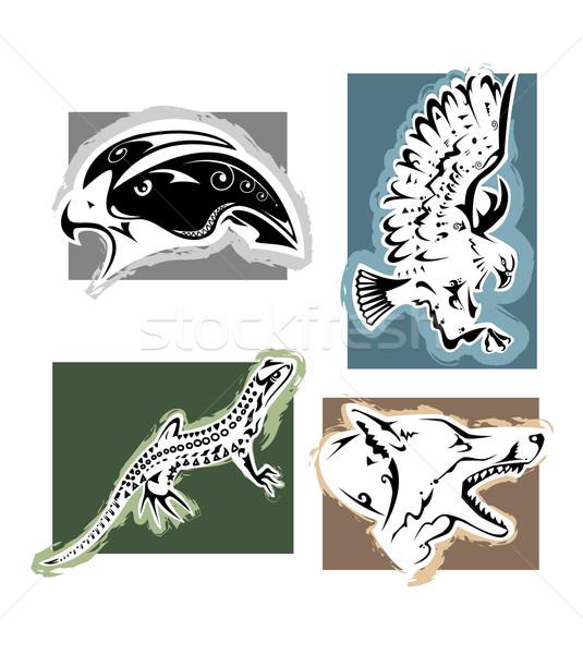 野生動物 4 動物 イーグル トカゲ ストックフォト © fresh_7266481