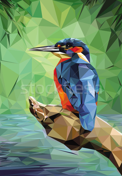 Kingfisher Low Poly Stock photo © fresh_7266481