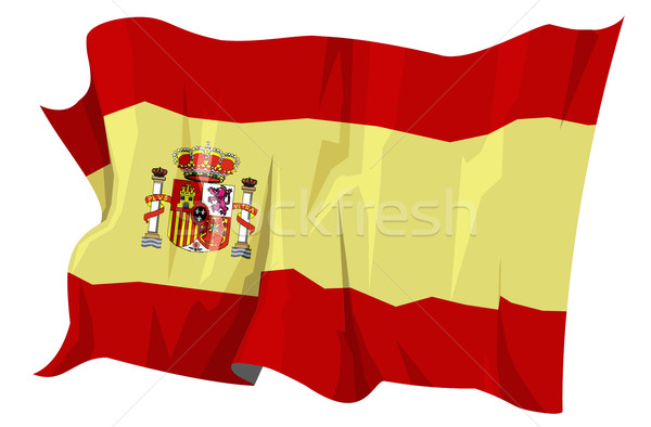 Vlag Spanje computer gegenereerde illustratie Europa Stockfoto © fresh_7266481