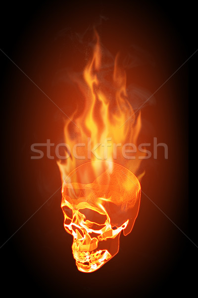 Skull in flames Stock photo © fresh_7266481