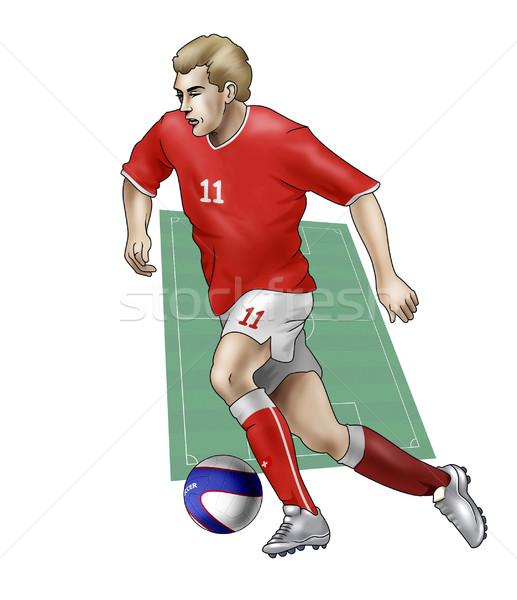 Takım İsviçre gerçekçi örnek futbolcu Stok fotoğraf © fresh_7266481