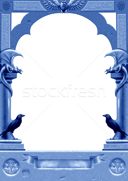 Nocturnal gothic frame Stock photo © fresh_7266481