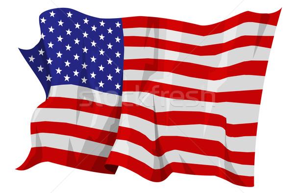 Pavillon États-Unis ordinateur généré illustration bleu Photo stock © fresh_7266481