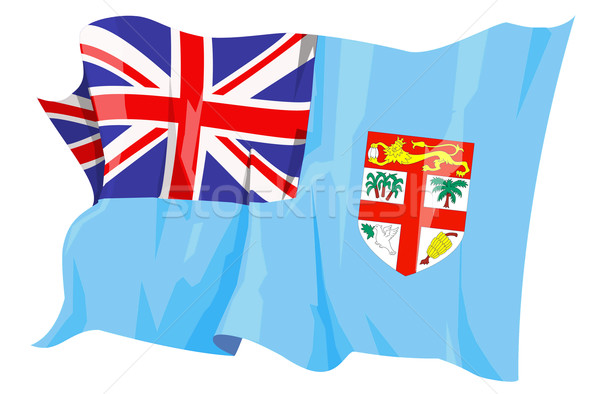 Bandiera Fiji computer generato illustrazione viaggio Foto d'archivio © fresh_7266481