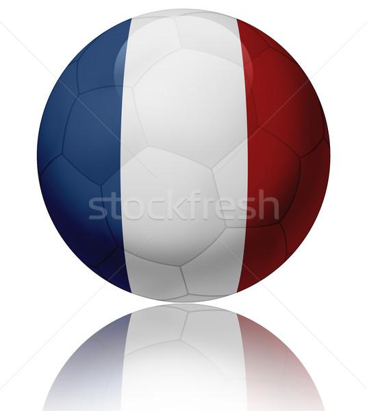 Fransa bayrak top doku parlak futbol topu Stok fotoğraf © fresh_7266481