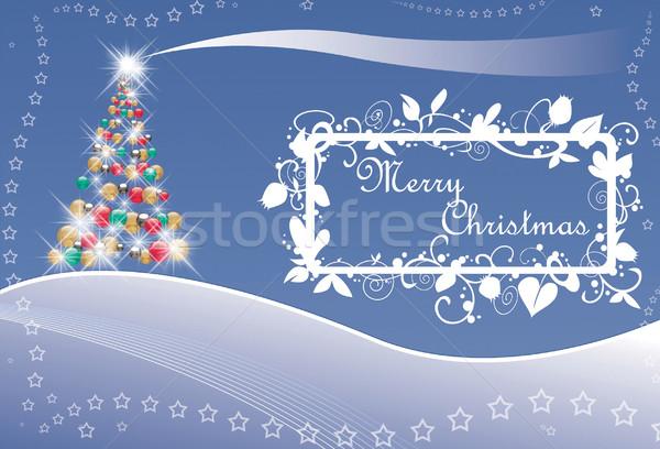 クリスマスツリー 星 文字 クリスマス グリーティングカード ツリー ストックフォト © fresh_7266481