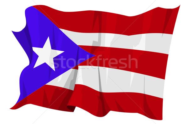 Vlag Puerto Rico computer gegenereerde illustratie reizen Stockfoto © fresh_7266481