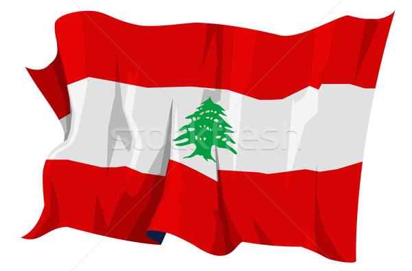 Bandeira Líbano computador gerado ilustração viajar Foto stock © fresh_7266481
