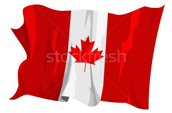 Vlag Canada computer gegenereerde illustratie blad Stockfoto © fresh_7266481