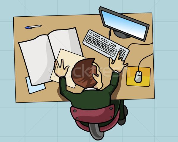 従業員 作業 コンピュータ 実例 表 論文 ストックフォト © fresh_7266481