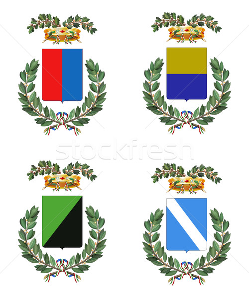 Vier Italiaans heraldiek collectie typisch Stockfoto © fresh_7266481