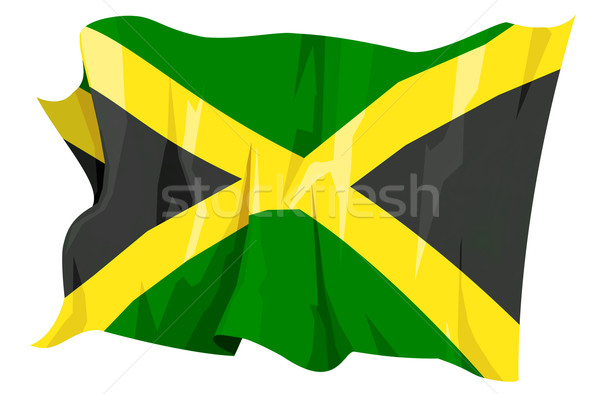 Stockfoto: Vlag · Jamaica · computer · gegenereerde · illustratie · reizen