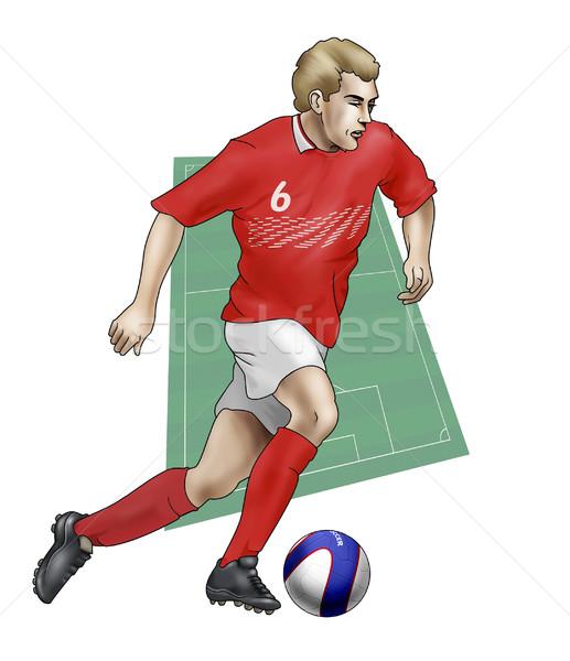 équipe Danemark réaliste illustration footballeur Photo stock © fresh_7266481
