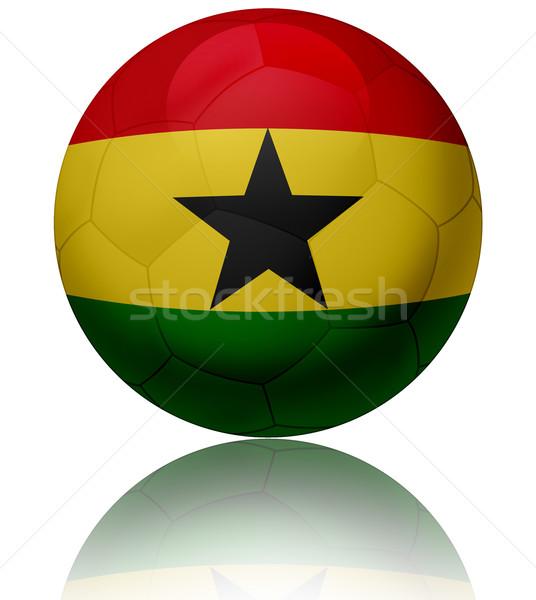 Гана флаг мяча текстуры футбольным мячом Сток-фото © fresh_7266481