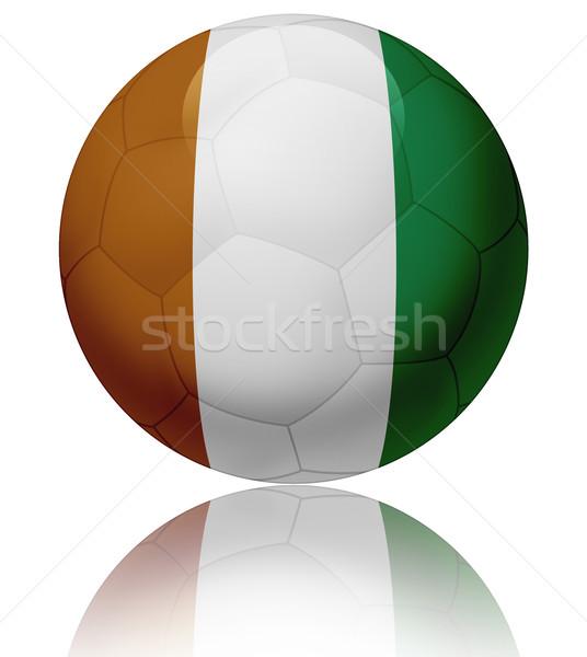 Elefántcsontpart zászló labda textúra fényes futballabda Stock fotó © fresh_7266481