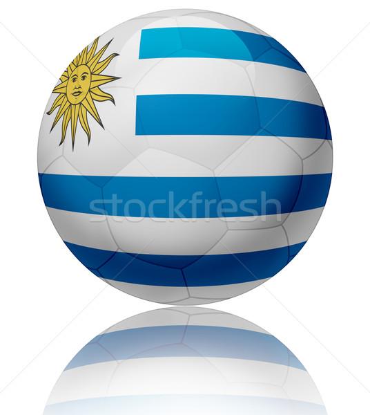 Уругвай флаг мяча текстуры футбольным мячом Сток-фото © fresh_7266481