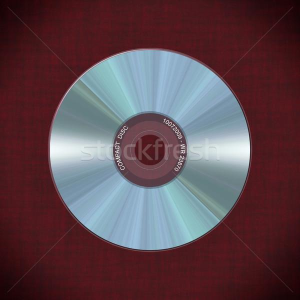 Realistyczny dysk czerwony ilustracja biuro świetle Zdjęcia stock © fresh_7266481