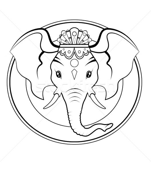 ロゴ 黒白 実例 黒 象 平和 ストックフォト © fresh_7266481
