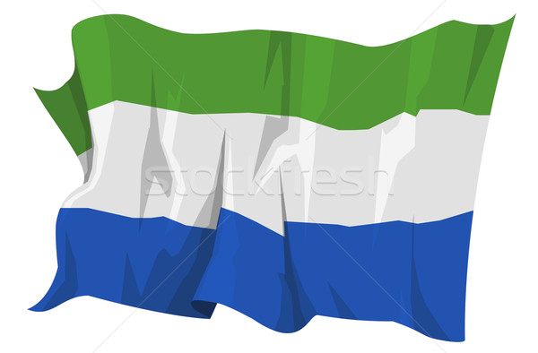 Flag series: Sierra Leone Stock photo © fresh_7266481