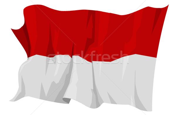 フラグ インドネシア コンピュータ 生成された 実例 旅行 ストックフォト © fresh_7266481