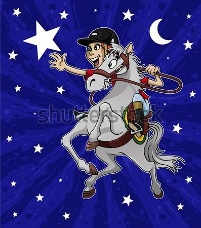 Színes illusztráció illuzionista égbolt csillagok éjszaka Stock fotó © fresh_7266481
