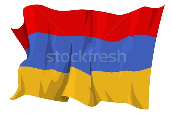 フラグ アルメニア コンピュータ 生成された 実例 青 ストックフォト © fresh_7266481