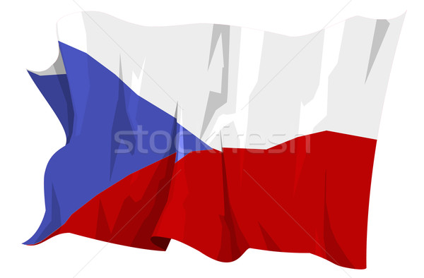 Flag series: Czech Republic Stock photo © fresh_7266481