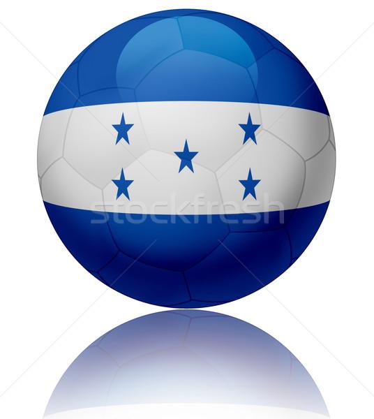 Гондурас флаг мяча текстуры футбольным мячом Сток-фото © fresh_7266481