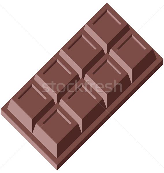 チョコレート ブロック 簡単 食品 芸術 食べ ストックフォト © fresh_7266481