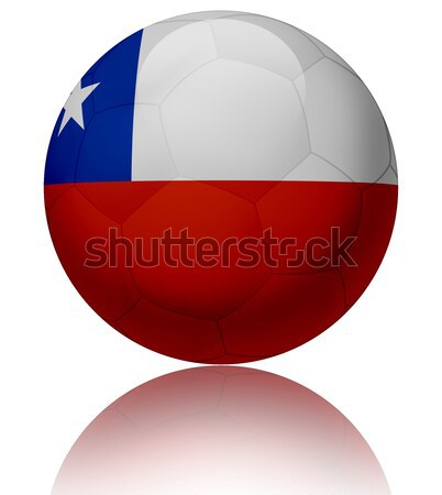 Şili bayrak top doku parlak futbol topu Stok fotoğraf © fresh_7266481