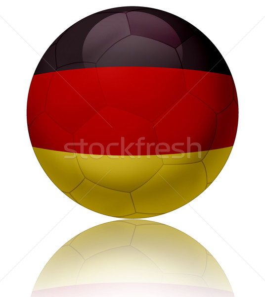 Almanya bayrak top doku parlak futbol topu Stok fotoğraf © fresh_7266481