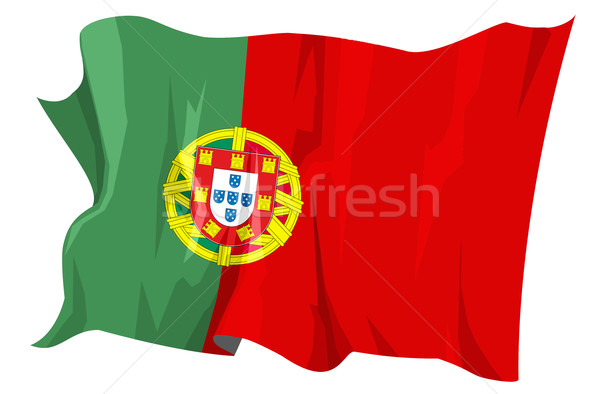 フラグ ポルトガル コンピュータ 生成された 実例 旅行 ストックフォト © fresh_7266481