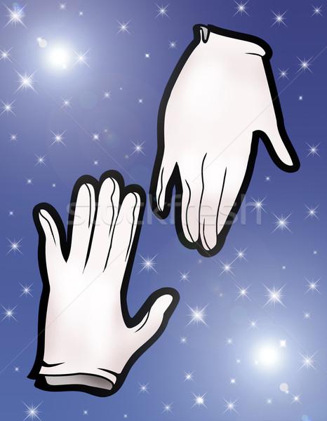 Büyü eldiven örnek çift gökyüzü gece Stok fotoğraf © fresh_7266481