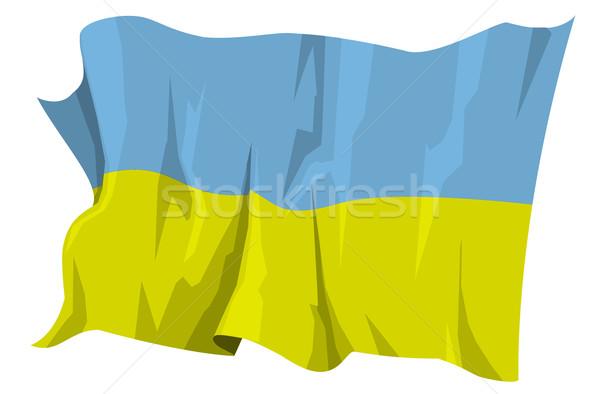 フラグ ウクライナ コンピュータ 生成された 実例 青 ストックフォト © fresh_7266481
