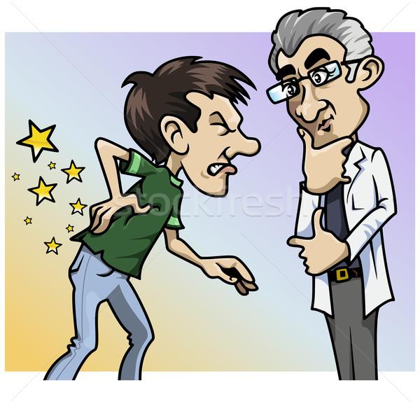 Au co ból lekarza ilustracja pacjenta Zdjęcia stock © fresh_7266481