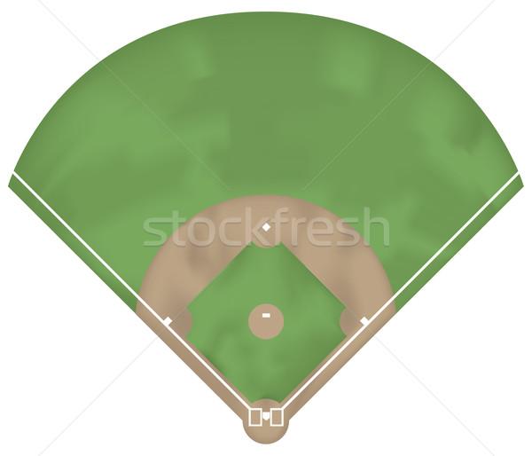 野球 地上 実例 表示 草 ストックフォト © fresh_7266481