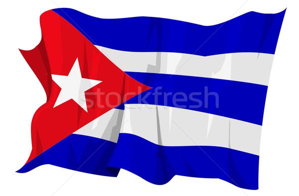 Flag series: Cuba Stock photo © fresh_7266481