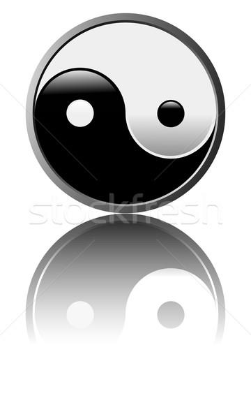 Tao symbol - White background Stock photo © fresh_7266481