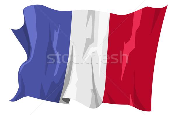 フラグ フランス コンピュータ 生成された 実例 旅行 ストックフォト © fresh_7266481