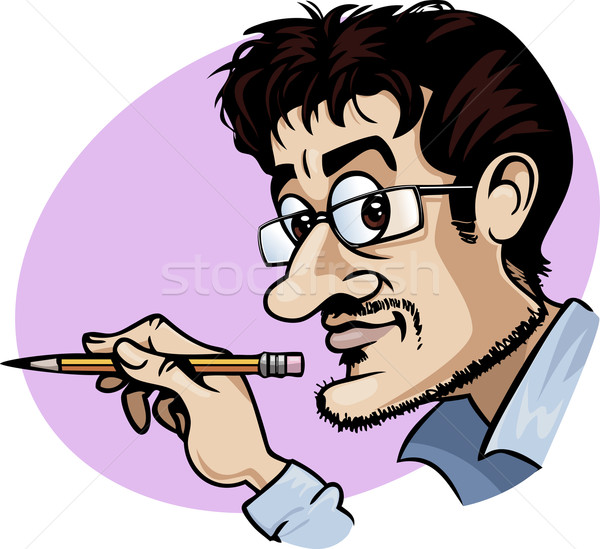 Cartoonist at work Stock photo © fresh_7266481