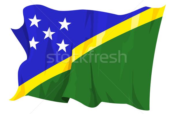 Bandiera Isole Salomone computer generato illustrazione verde Foto d'archivio © fresh_7266481
