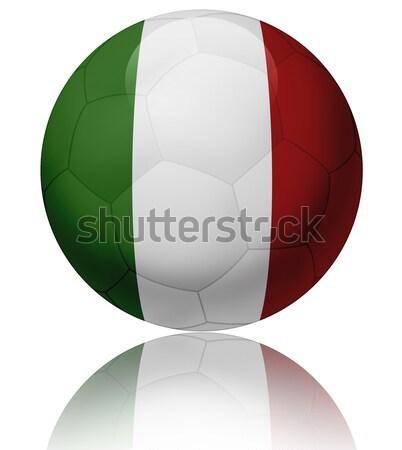 İtalya bayrak top doku parlak futbol topu Stok fotoğraf © fresh_7266481